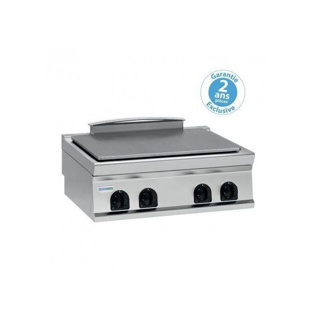 Materiel Chr Pro Plaque électrique de mijotage double à poser - 4 plaques - gamme 900 - module 400 - Tecnoinox - 900