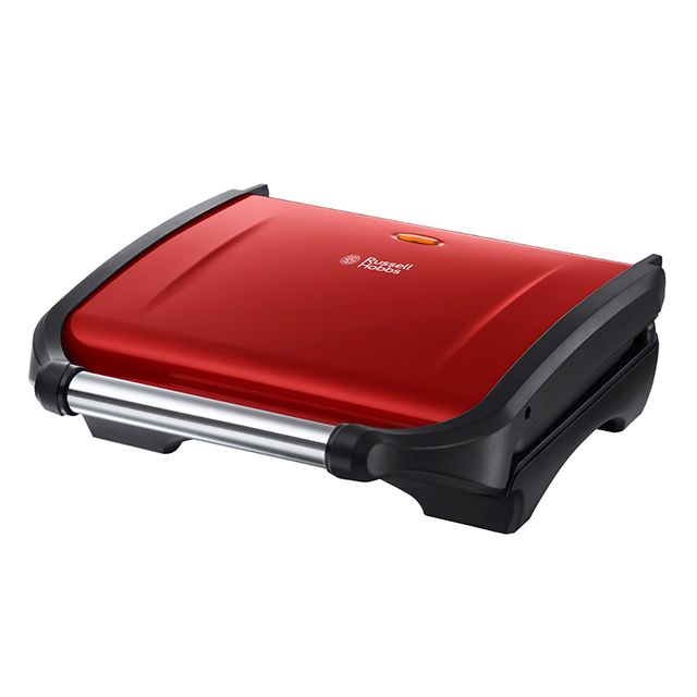 RUSSELL HOBBS grille-viande et panini 1600w rouge flamboyant - 19921-56