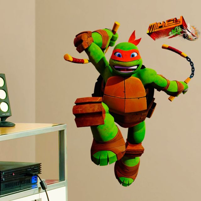 Roommates stickers g ant michelangelo tortues ninja - Tortues ninja michelangelo ...
