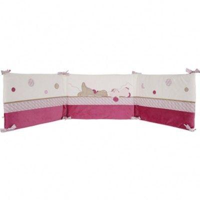 noukies tour de lit fille victoria et lucie pour lits 60x120 et 70x140cm pas cher achat. Black Bedroom Furniture Sets. Home Design Ideas