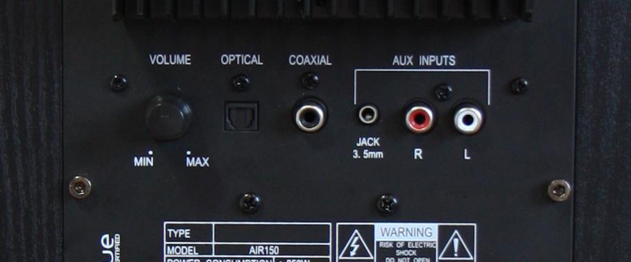 Paire d'enceintes colonne bluetooth amplifiée Air 150 Noir