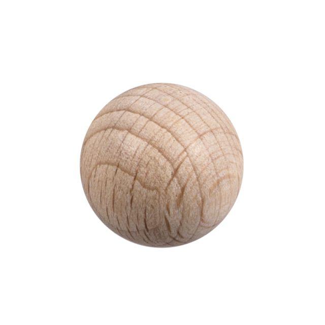 non traité Diamètre 30 mm Lot de 50 Demi-boule en bois brut de hêtre