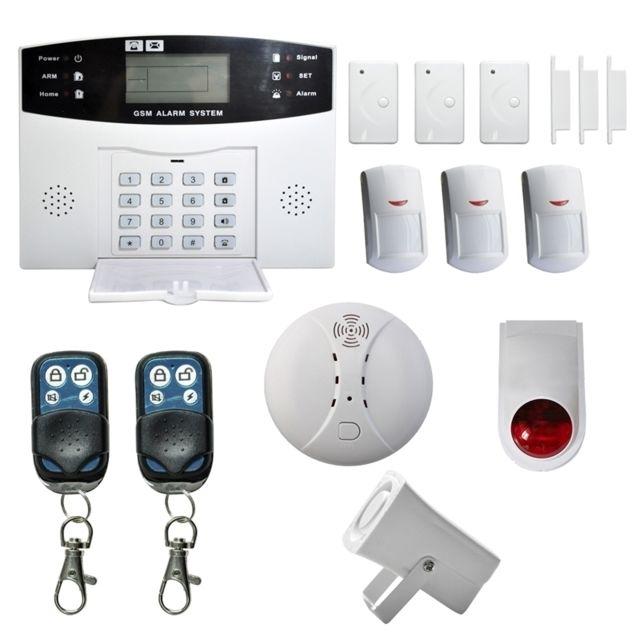 wewoo syst me d 39 alarme sans fil de cambriolage de maison de s curit de gsm avec l 39 cran d. Black Bedroom Furniture Sets. Home Design Ideas