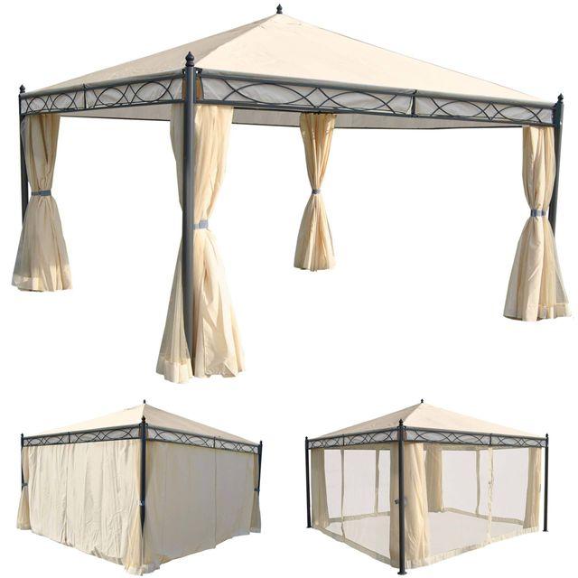 Mendler - Pergola Cadiz, pavillon de jardin, cadre stable à 7cm avec ...