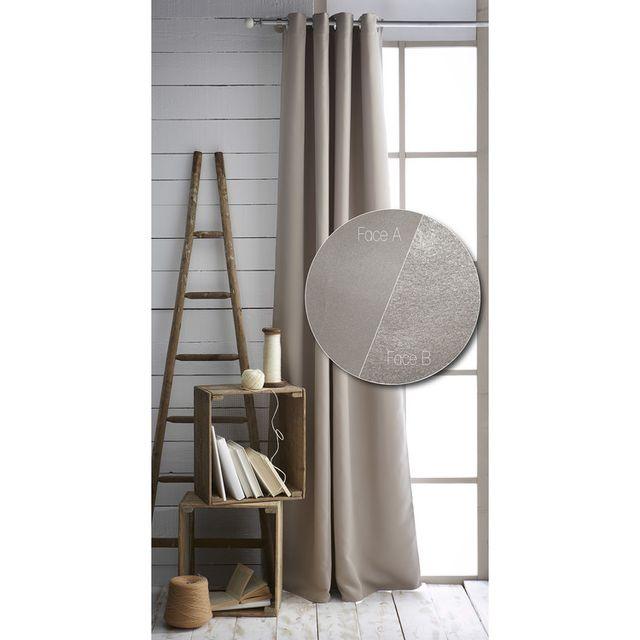 today rideau illets isolant thermique doublure polaire uni 140x240cm hot cold masticnc. Black Bedroom Furniture Sets. Home Design Ideas
