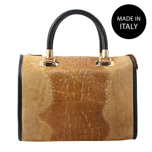 chicca borse sac à main en cuir véritable