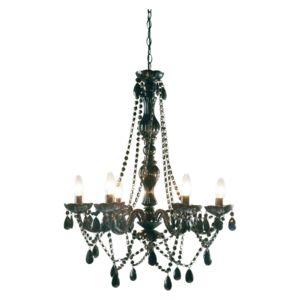 karedesign lustre starlight noir 6 branches kare design pas cher achat vente suspensions. Black Bedroom Furniture Sets. Home Design Ideas