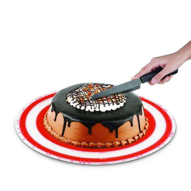 Silicone Zone Tapis de découpe de tarte avec marquage des parts
