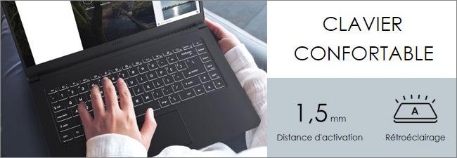 MSI Modern 15 - Clavier