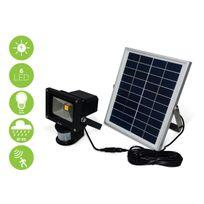 Alice'S Garden - Projecteur puissant 5W Led solaire 550 lumens, blanc froid à détecteur de mouvements, luminaire extérieur résistant à l'eau, batterie lithium 4000mAh, spot autonome à recharge solaire, lampe murale détection, équivalent 50W