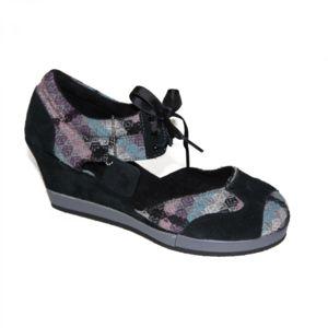 Etnies samples shoes WEDGE  FINA GREY BLACK WOMEN Gris - Chaussures Sandale Femme