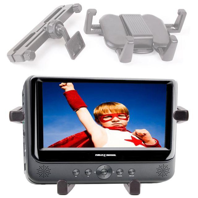 duragadget fixation support appui t te voiture pour tablette et lecteur dvd portable jusqu 39. Black Bedroom Furniture Sets. Home Design Ideas