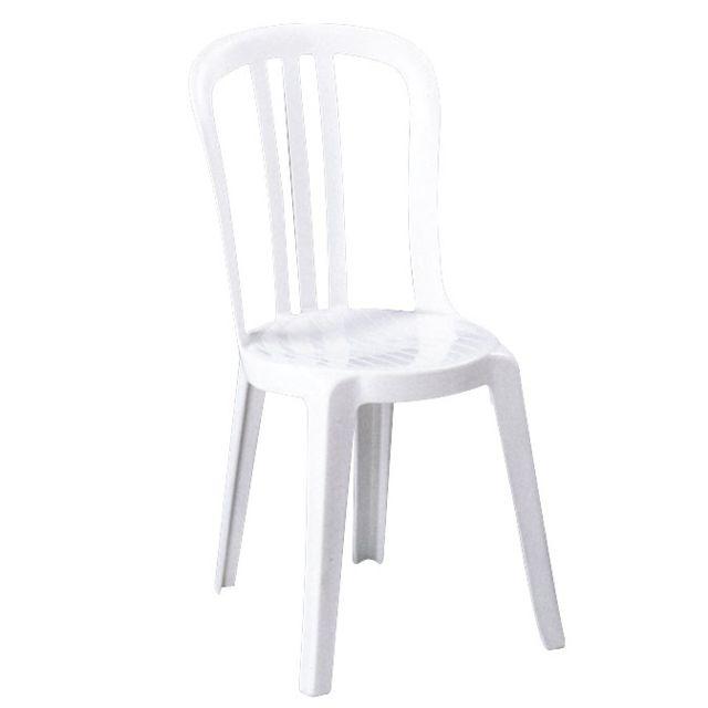grosfillex chaise de jardin miami bistrot blanc pas. Black Bedroom Furniture Sets. Home Design Ideas