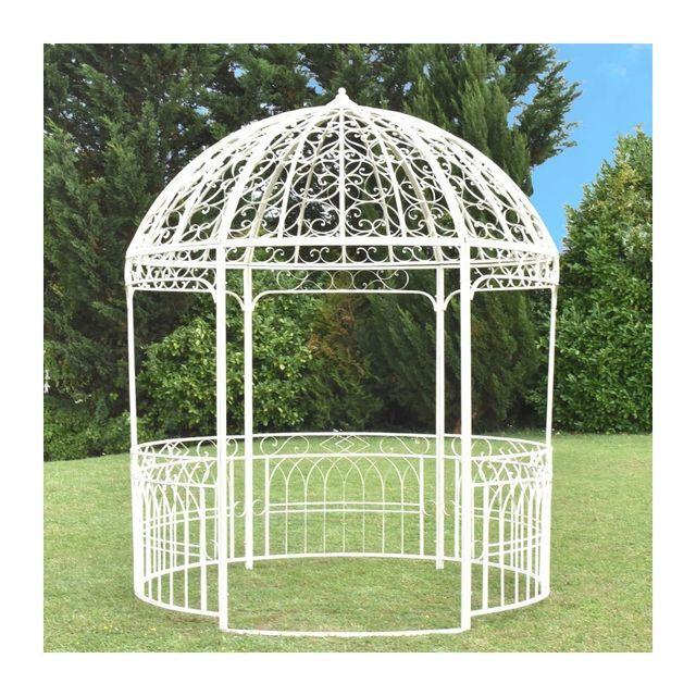serre de jardin gloriette forme octogonale 9m2 laqu blanc oui vendu par rueducommerce 703614. Black Bedroom Furniture Sets. Home Design Ideas