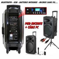 Ibiza Sound - Ibiza port 15 vhf bt - pied - câble pc dj