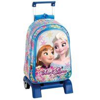 La Reine Des Neiges - Sac à dos à roulettes Frozen 43 Cm Soul trolley Haut de Gamme - Cartable