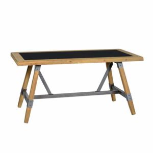jardin d 39 ulysse table m tal et bois de sapin l160cm soho pas cher achat vente meubles cd. Black Bedroom Furniture Sets. Home Design Ideas