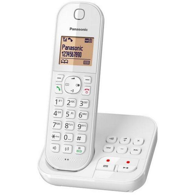 PANASONIC - Téléphone fixe sans fil avec répondeur Solo KX-TGC420FRW ... b889f249cd7f