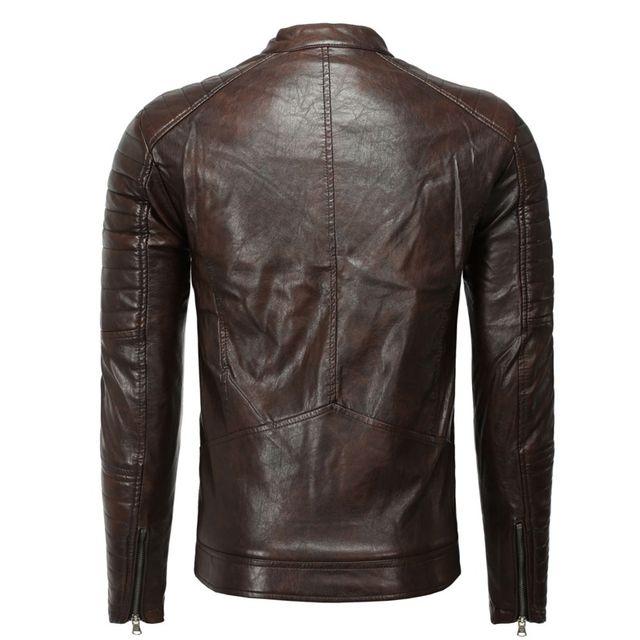 Freeside - Blouson en cuir pour homme Blouson fashion 1026 marron XXL