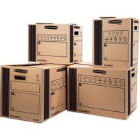 Bankers Box - 62065 - caisse de transport charge moyenne 50x35x37cm - paquet de 10