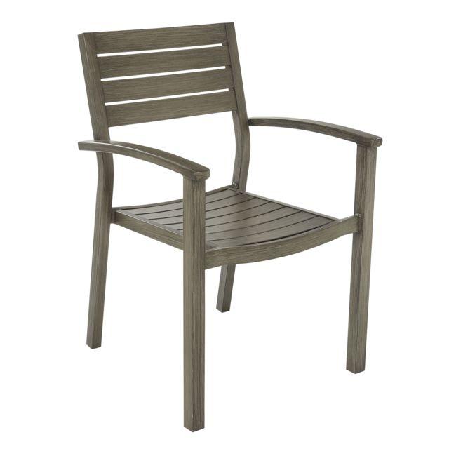 carrefour fauteuil honfleur de jardin marron pas cher achat vente fauteuil de jardin. Black Bedroom Furniture Sets. Home Design Ideas