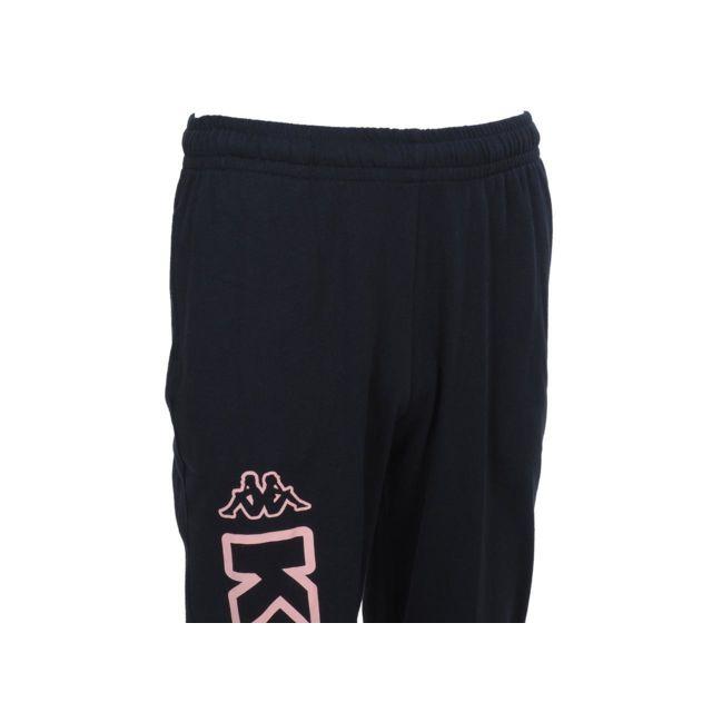 Kappa - Pantalon de survêtement Costo navy logo rose Bleu 32731 XS