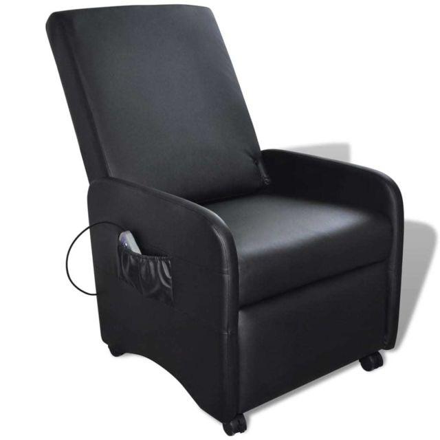 Esthetique Fauteuils reference Riyad Fauteuil de massage électrique Cuir synthétique Réglable Noir