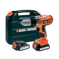 Black & Decker - Asl146KB Perceuse visseuse sans fil 2 vitesses 14,4V 2 batteries