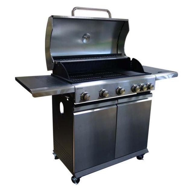 BBQ PLUS Barbecue américain gaz 5 feux + 1 pas cher