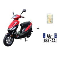 Eurocka - Scooter Cka City 50cc 4T noir/rouge+ Immatriculation