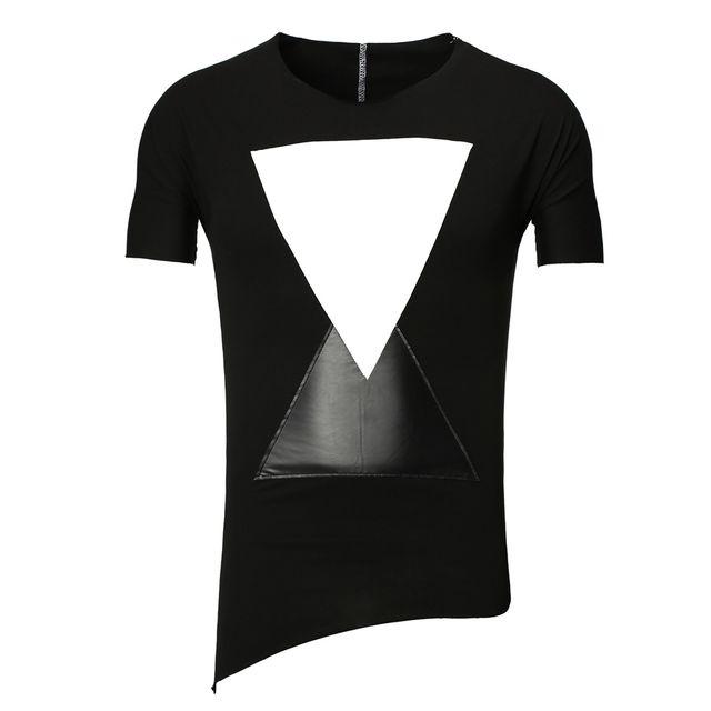 Tee shirt mode homme T-shirt Yr1492 noir