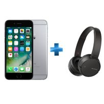 APPLE - iPhone 6 - 64 Go - Gris Sidéral - Reconditionné + Casque Bluetooth SONY MDRZX220