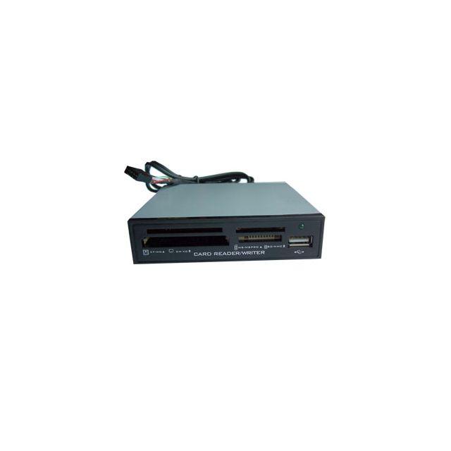 RUE DU COMMERCE - Lecteur mémoire multicartes interne 12 en 1 - Format 3,5'' - USB 2.0