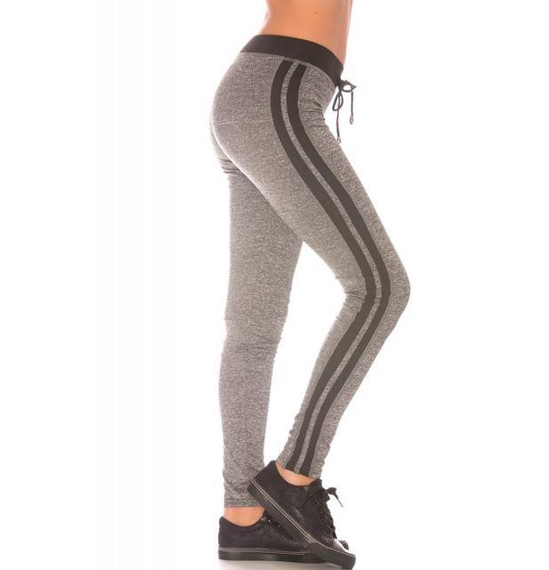 Fashion Mode 45 - Leggings noir et gris sportswear Couleur - Noir ... 14deb2b87f4