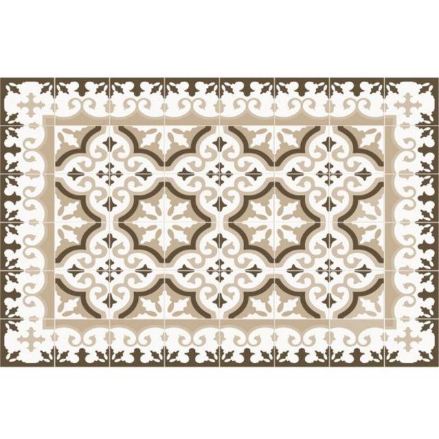 Mosaiko Tapis De Cuisine 50x100cm Beige 40070 Pas Cher Achat