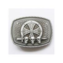 Boucle de ceinture croix celte crane epée tete de mort alu. UNIVERSEL ... a60f49c3925