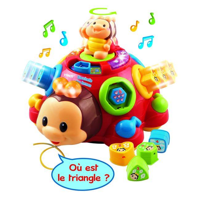 VTECH BABY Coccinelle des formes Une coccinelle parlante et musicale avec des formes à encastrer.