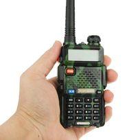 Yonis - Baofeng Uv-5R Talkie-walkie récepteur radio fréquence modulable Kaki