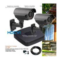 Dahua - Kit de video surveillance Hdcvi avec 2 caméras extérieures varifocales Capacité du disque dur - Disque dur de 1 To