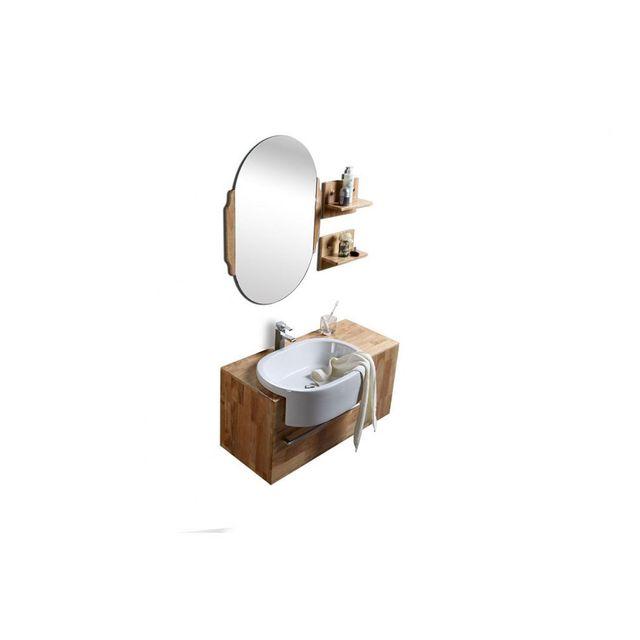 miliboo meuble de salle de bain vasque meuble sous vasque tag res et miroir nivan pas. Black Bedroom Furniture Sets. Home Design Ideas