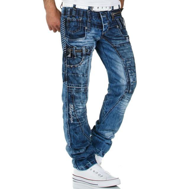 Kosmo Lupo Jean fashion Jean Km-020 bleu