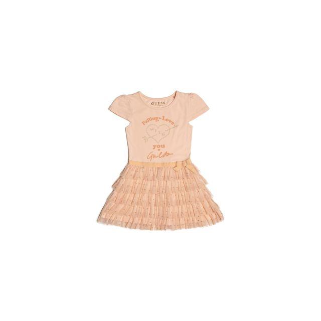 f2fb46577b5a5 Guess - Robe Fille Rose Saumon K81K20 - Taille - 4 ans - pas cher Achat   Vente  Robe enfant - RueDuCommerce