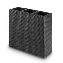 Triumflor Jardinière 80x78x29 cm 3 pots - anthracite