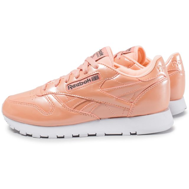 Reebok Classic Leather Pp Orange pas cher Achat Vente