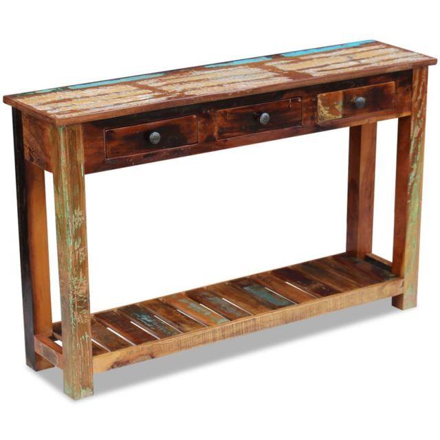 Icaverne - Buffets et bahuts famille Table console 120 x 30 x 76 cm Bois de récupération massif