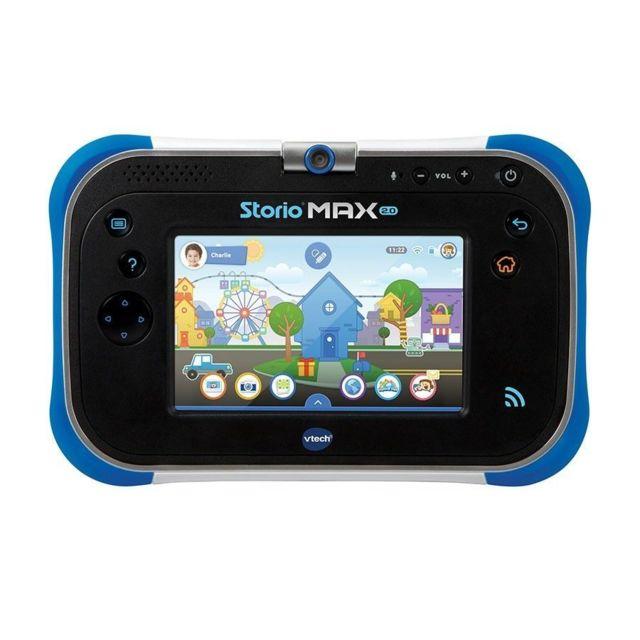 vtech tablette storio max 2 0 5 bleue 108805 pas cher achat vente jouet lectronique. Black Bedroom Furniture Sets. Home Design Ideas