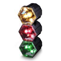 Fiesta - Jeu de lumière Disco effet Chenillard 3 Spots 3 Couleurs Rouge/Vert/Jaune Dlight3