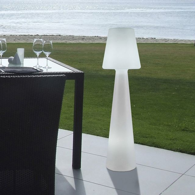 New Garden - Lampadaire extérieur en polyéthylène blanc Lola - 110cm