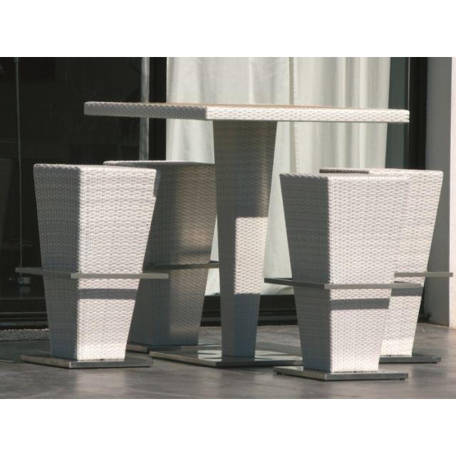 Hemisphere Editions - Table tabourets haut carré mange-debout de ...