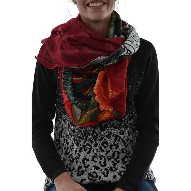 db9725c8818a Desigual - Foulards 67w54e4 alabama rectangle vert - pas cher Achat   Vente  Echarpes, foulards - RueDuCommerce